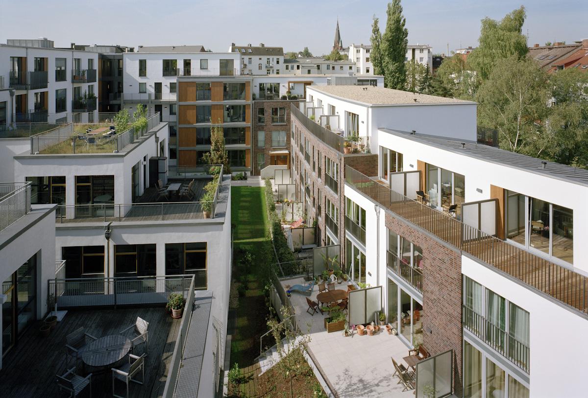 Blick in den Innenhof der Anlage Erdmannstraße