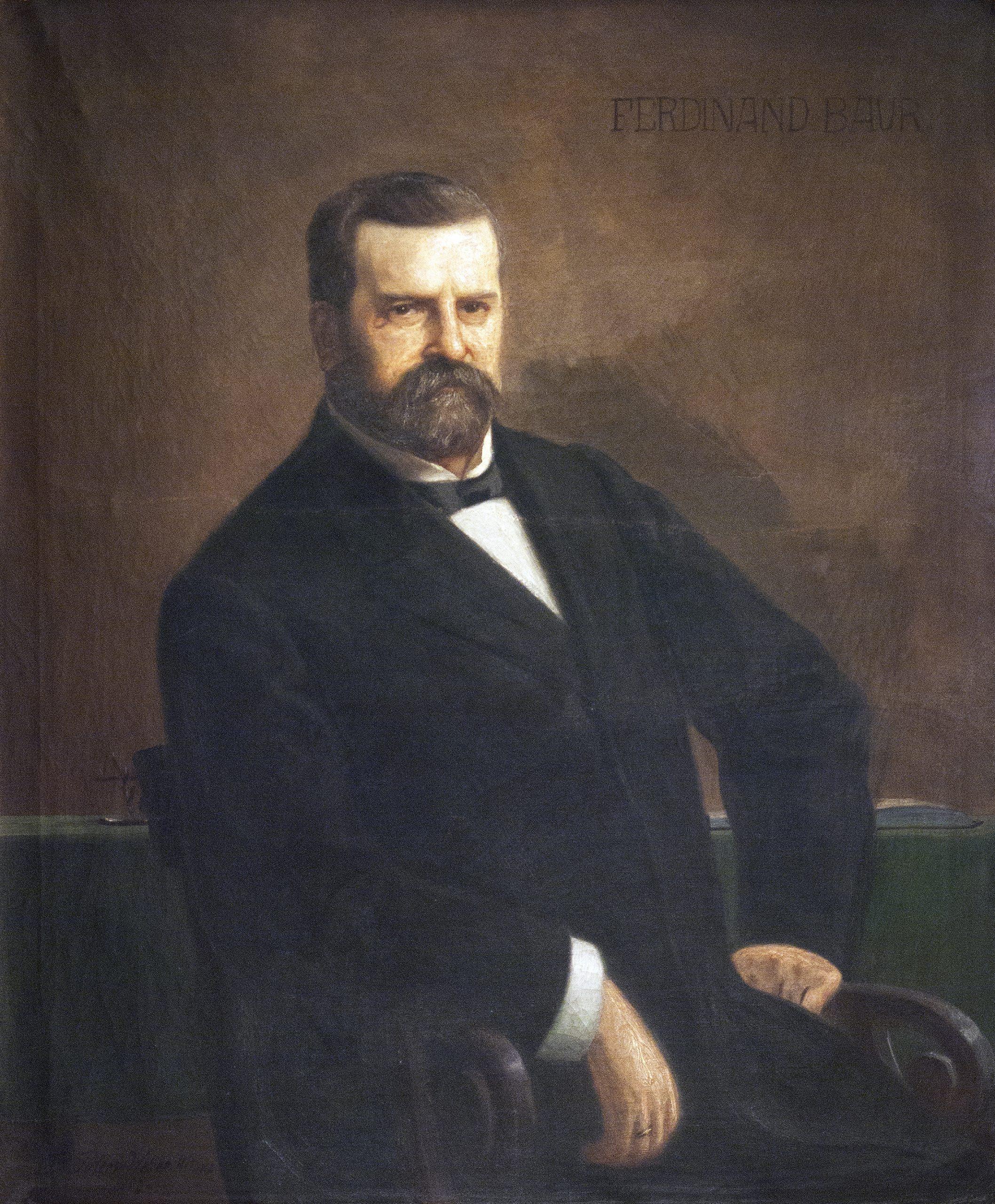 Porträt von Dr. Ferdinand Baur, einem der ersten Vorstandsmitglieder der altoba