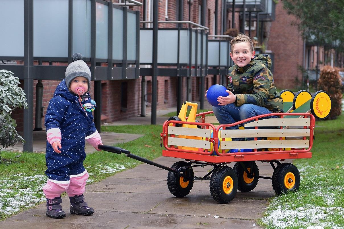 Das Spielmobil für Kinder ist durch Spenden ermöglicht worden.