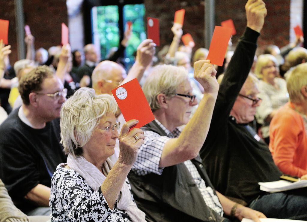 Auf den Vertreterversammlungen werden durch Abstimmungen wichtige Beschlüsse gefasst