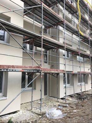 Fassadenarbeiten im Immenbusch/Glückstädter Weg