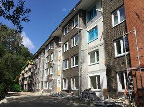 Während der Bauarbeiten im Immenbusch/Glückstädter Weg
